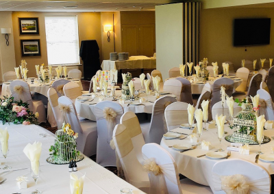 Function Room dressed in subtle white and cream
